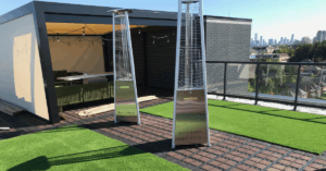 Ecoraster Bloxx rooftop patio green building